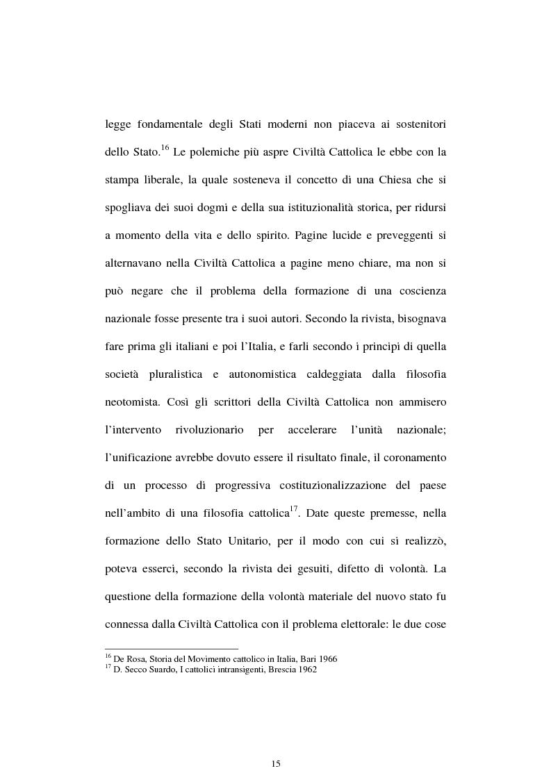 Anteprima della tesi: Un quadriennio di Pontificato di Pio X, 1903 - 1907. Un'analisi attraverso l'Osservatore Romano e la Civiltà Cattolica., Pagina 11
