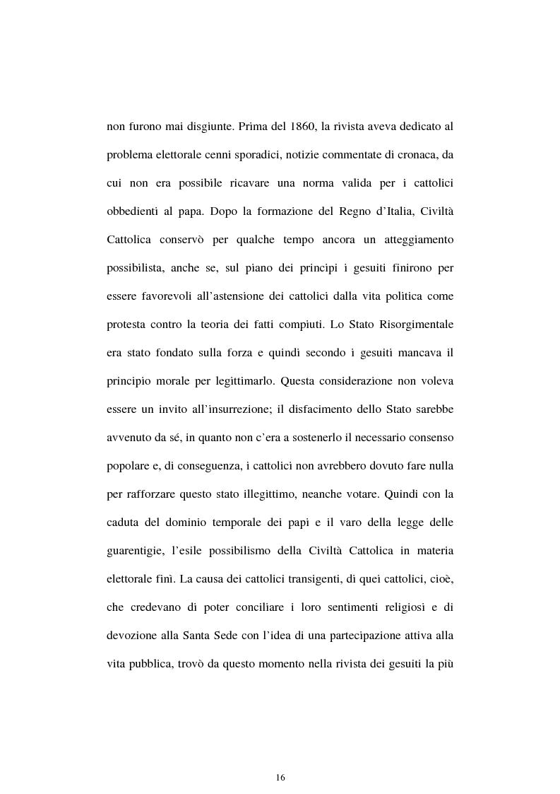Anteprima della tesi: Un quadriennio di Pontificato di Pio X, 1903 - 1907. Un'analisi attraverso l'Osservatore Romano e la Civiltà Cattolica., Pagina 12