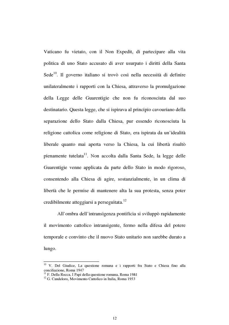 Anteprima della tesi: Un quadriennio di Pontificato di Pio X, 1903 - 1907. Un'analisi attraverso l'Osservatore Romano e la Civiltà Cattolica., Pagina 8
