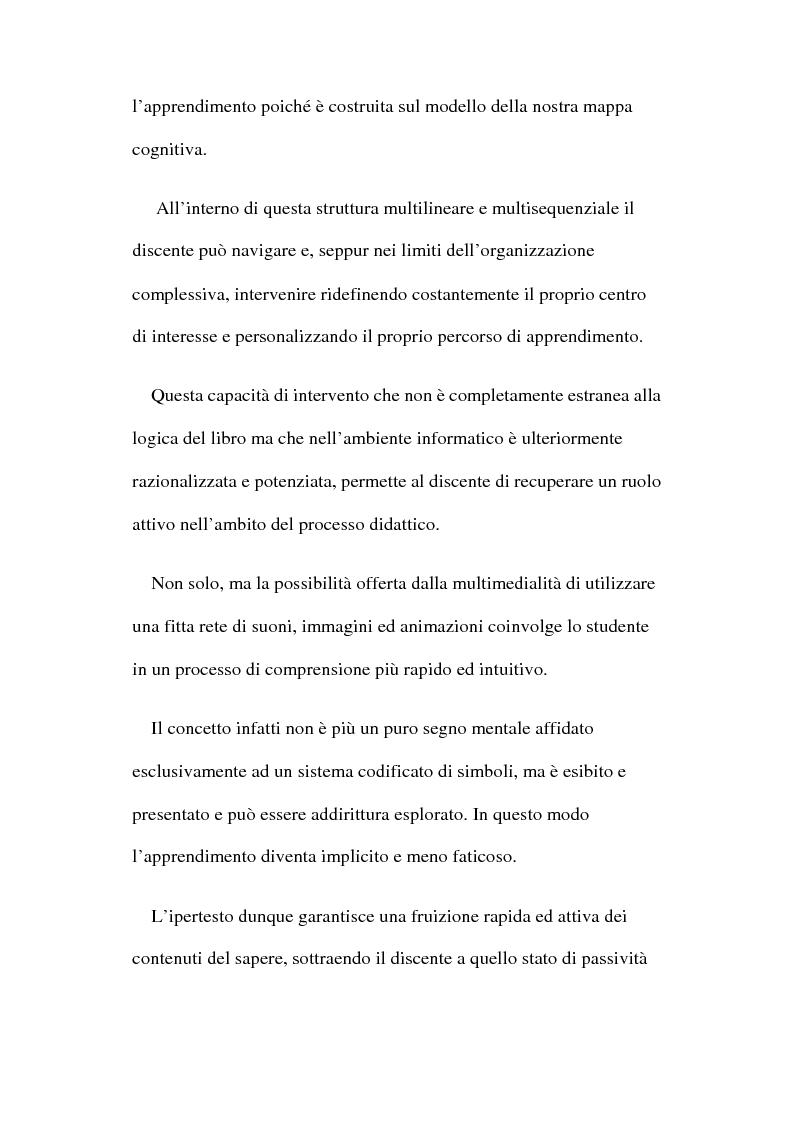 Anteprima della tesi: Ipertesto: problematiche relative alla formazione, Pagina 2