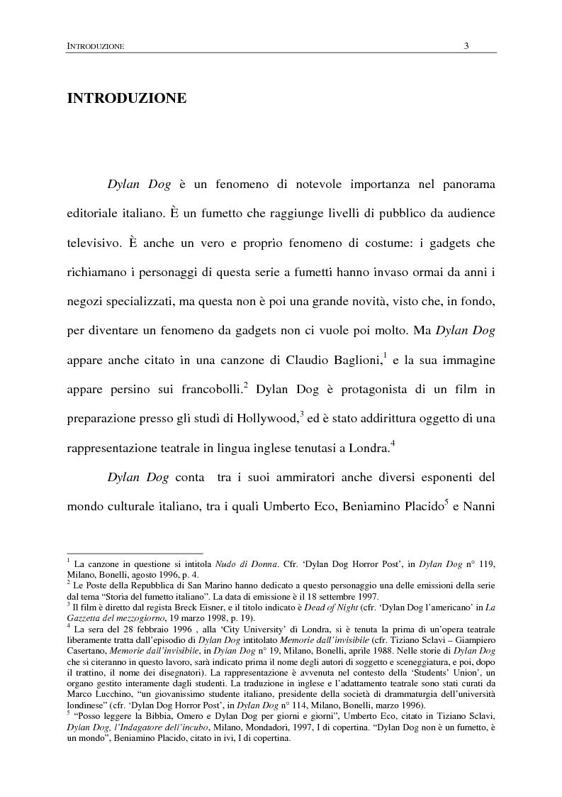 Anteprima della tesi: Dylan Dog; ovvero: come navigare nei saperi di ogni tempo e cultura, Pagina 1