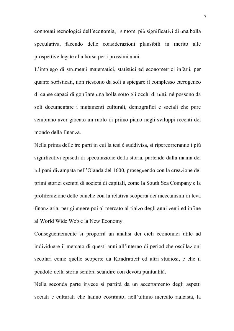 Anteprima della tesi: Mercati efficienti e bolle speculative: cicli economici, finanza e psicologia, Pagina 2