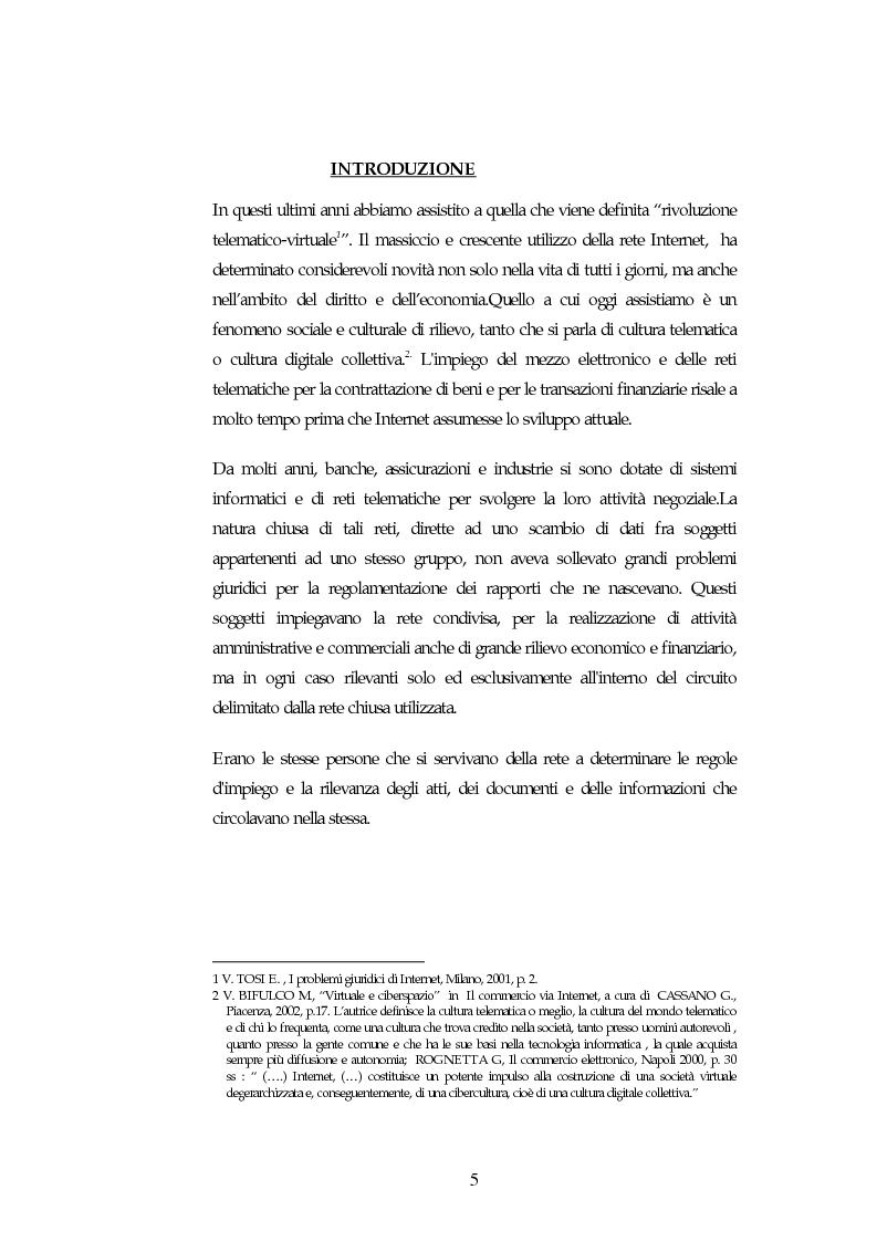 Anteprima della tesi: I contratti on line, Pagina 1