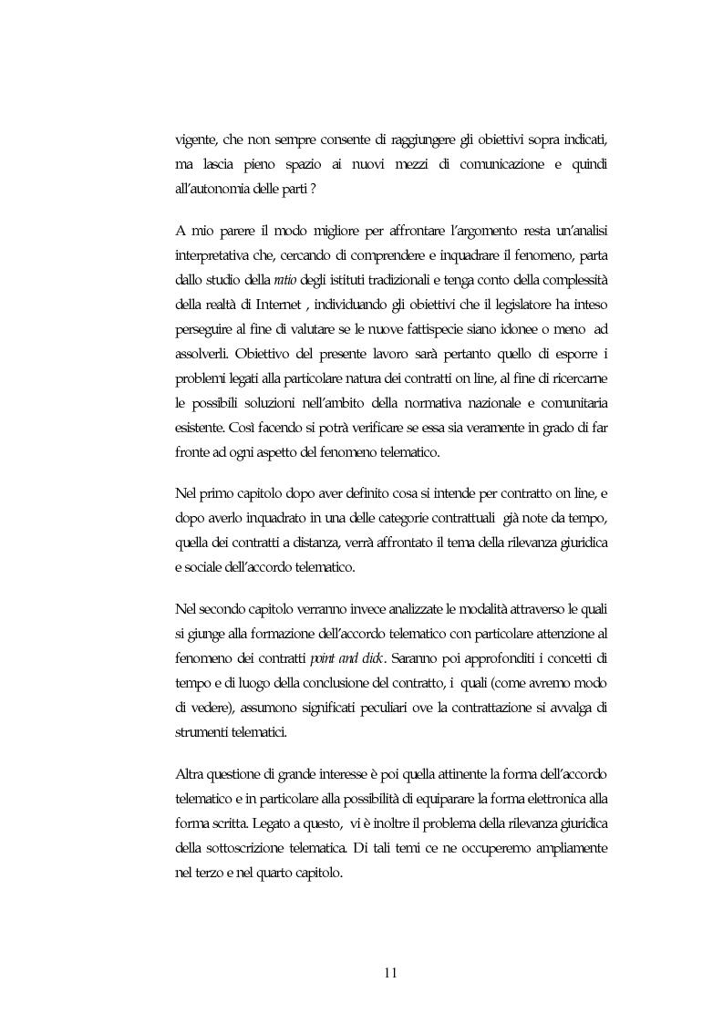 Anteprima della tesi: I contratti on line, Pagina 7