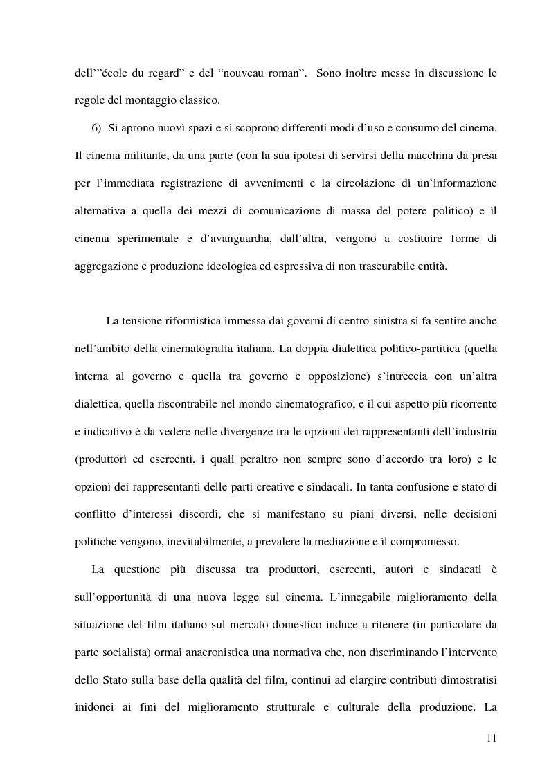 Anteprima della tesi: Politica e militanza: le riviste cinematografiche negli anni Settanta, Pagina 11