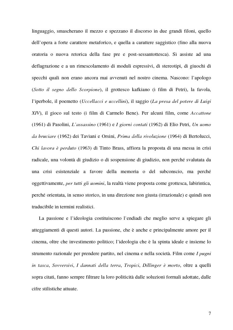 Anteprima della tesi: Politica e militanza: le riviste cinematografiche negli anni Settanta, Pagina 7