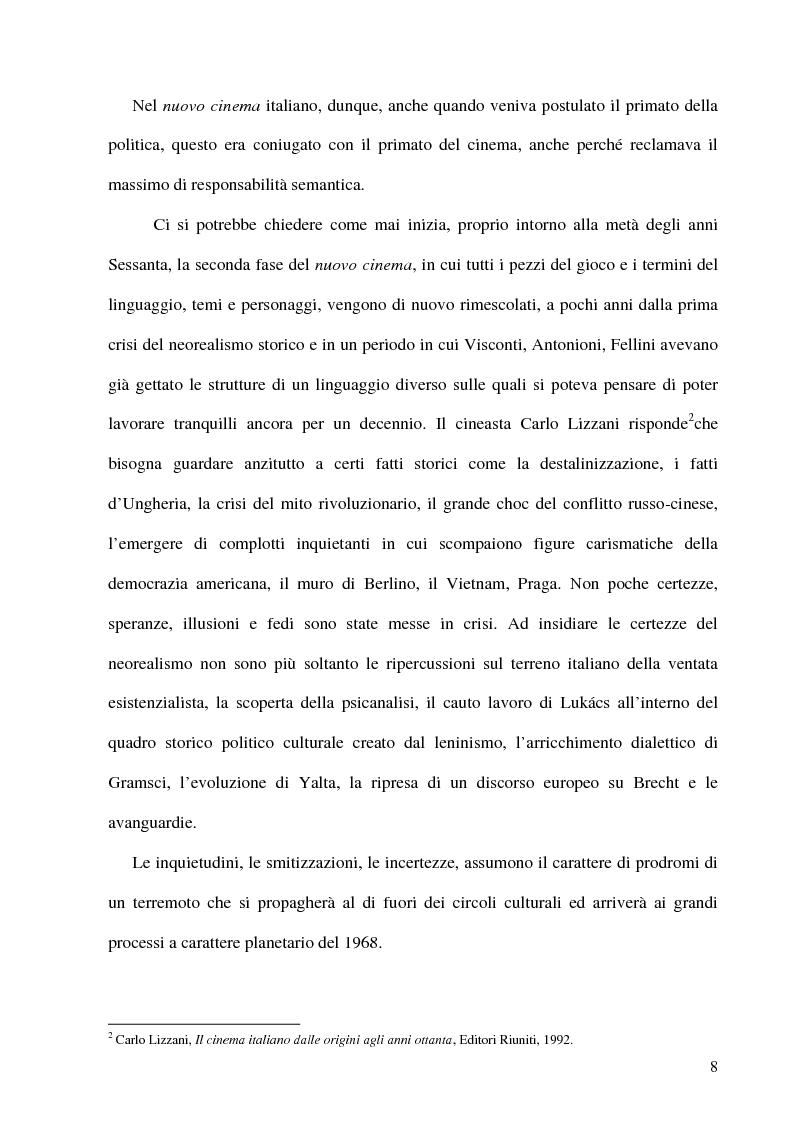 Anteprima della tesi: Politica e militanza: le riviste cinematografiche negli anni Settanta, Pagina 8
