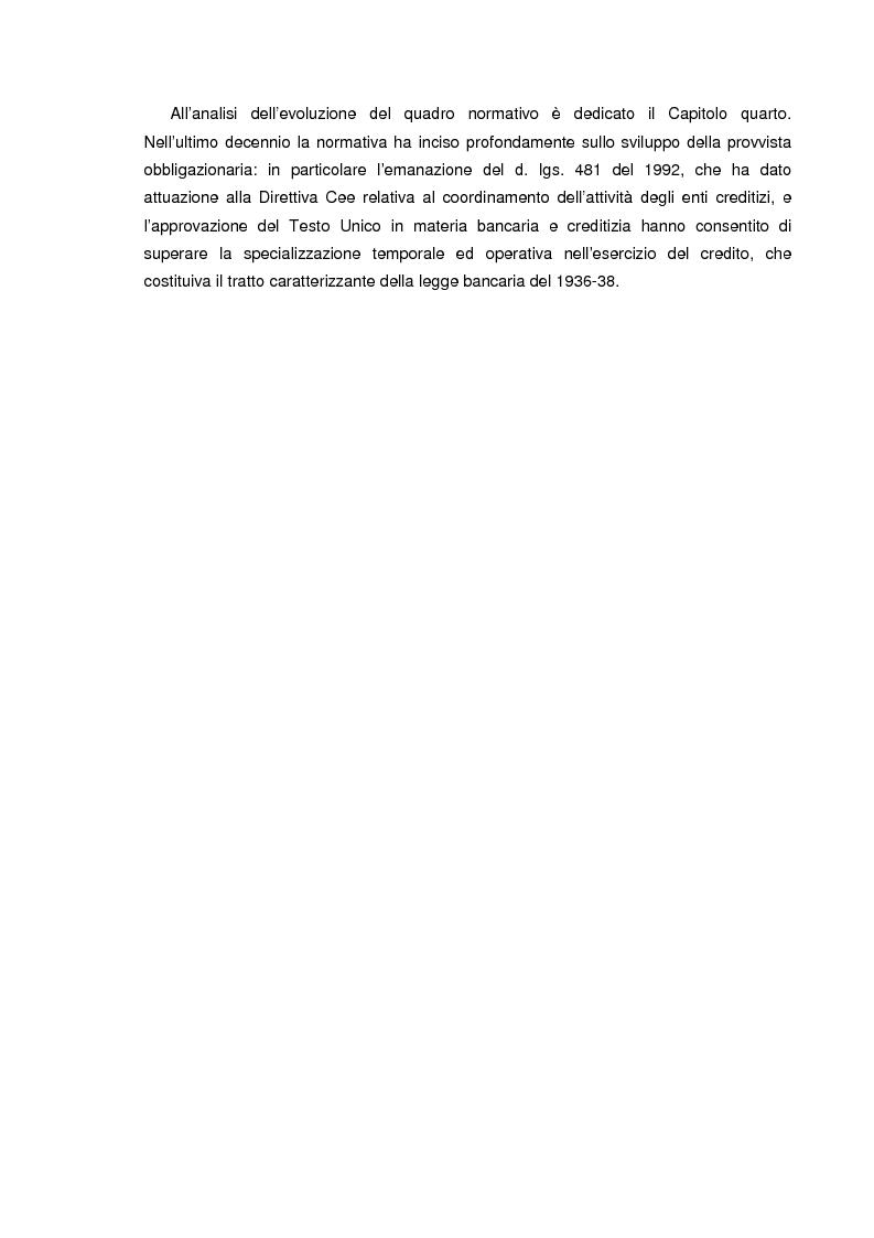 Anteprima della tesi: La raccolta tramite obbligazioni nella gestione delle banche: aspetti operativi e di mercato, Pagina 3