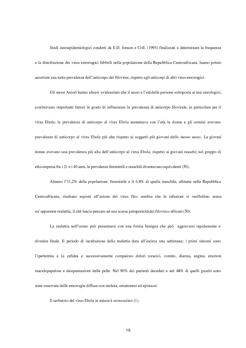 Anteprima della tesi: Aspetti epidemiologici della Crimean-Congo Haemorragic Fever, con particolare riferimento all'allevamento e alla macellazione dello struzzo, Pagina 14