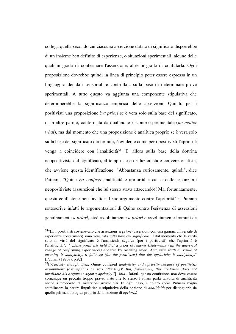 Anteprima della tesi: La filosofia della scienza di Hilary Putnam, Pagina 13