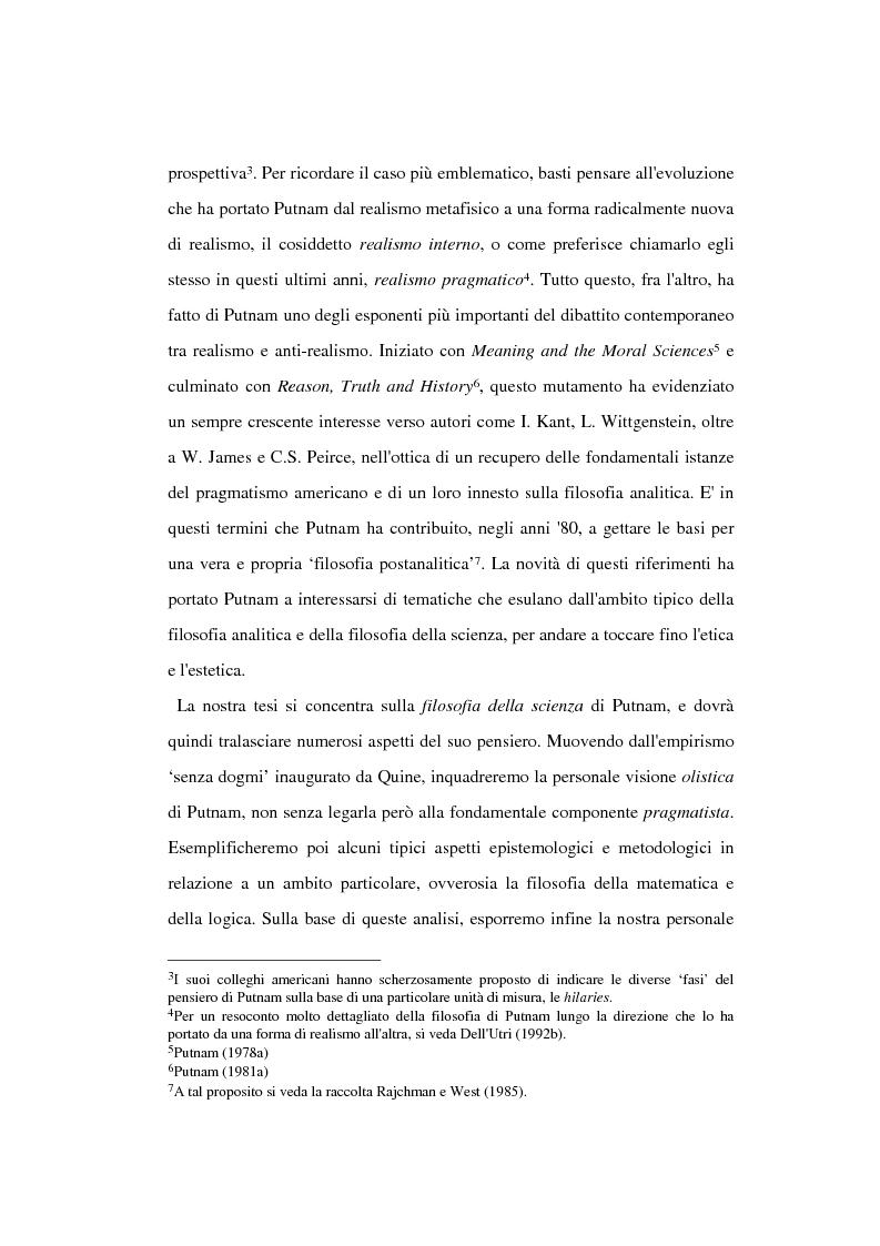 Anteprima della tesi: La filosofia della scienza di Hilary Putnam, Pagina 2