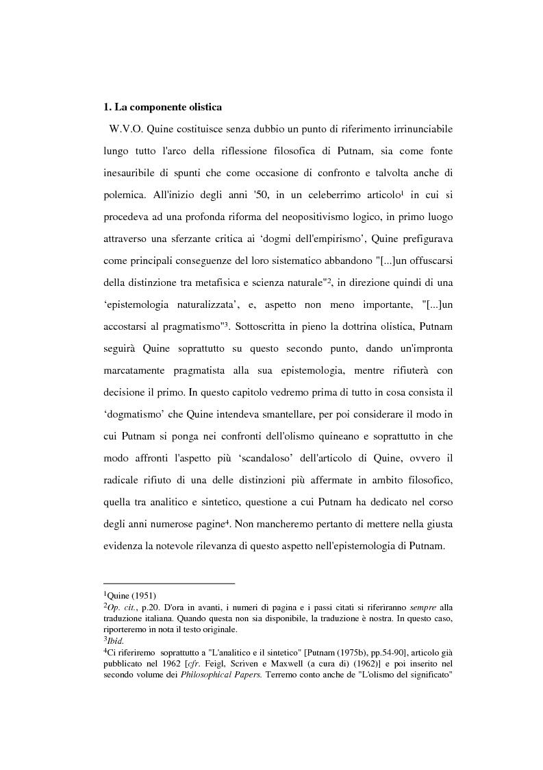 Anteprima della tesi: La filosofia della scienza di Hilary Putnam, Pagina 4
