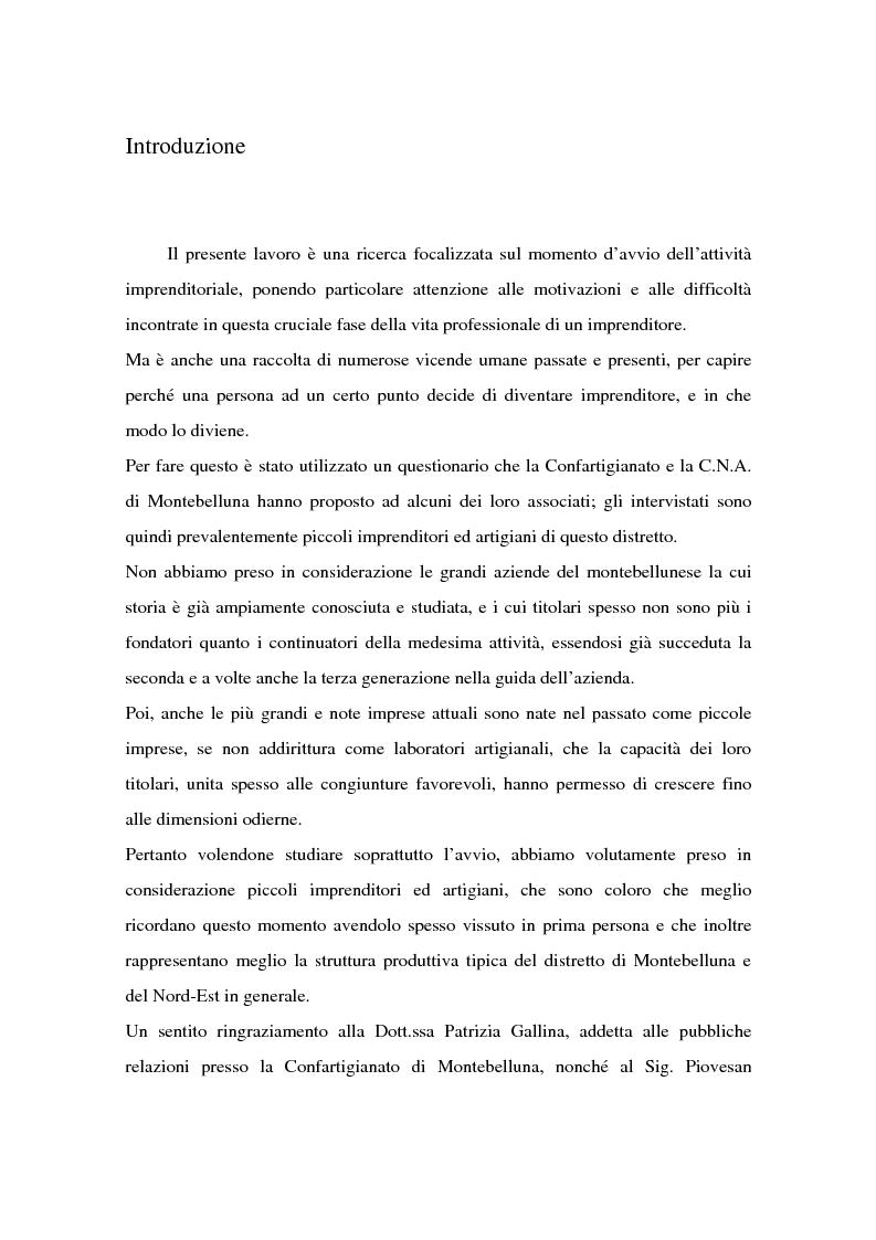 Anteprima della tesi: Come si formano gli imprenditori. Il caso di Montebelluna, Pagina 1