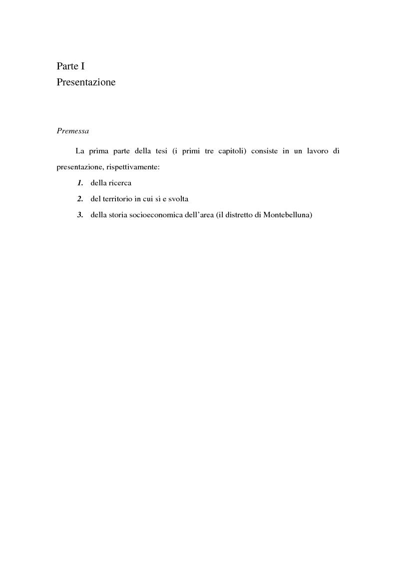 Anteprima della tesi: Come si formano gli imprenditori. Il caso di Montebelluna, Pagina 3