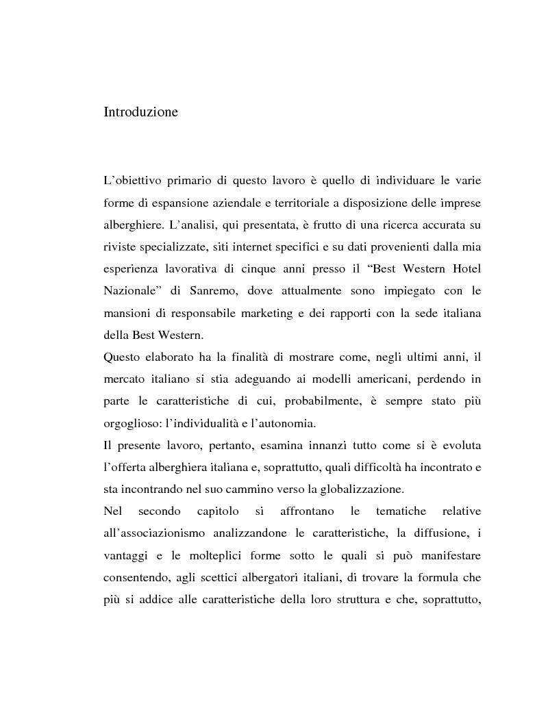 Anteprima della tesi: L'associazionismo volontario nel settore alberghiero, Pagina 1