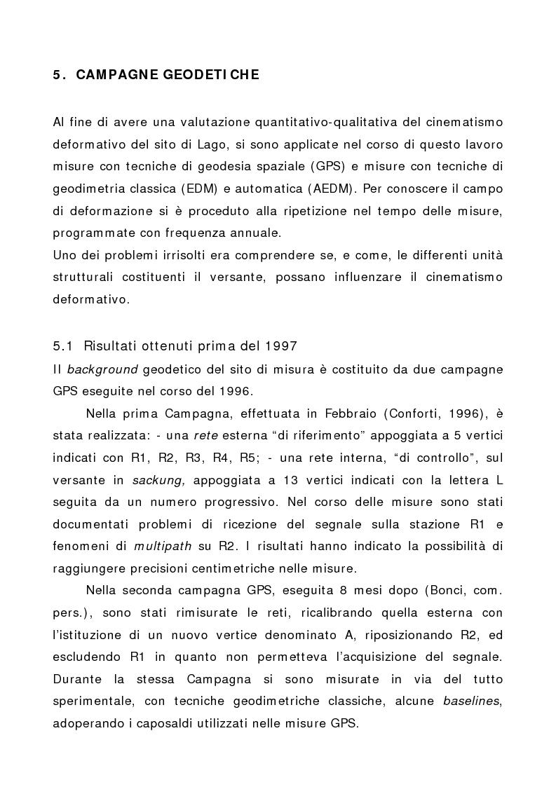 Anteprima della tesi: Applicazione di tecniche di geodesia spaziale e di geodimetria classica ed automatica allo studio delle deformazioni del suolo, Pagina 1