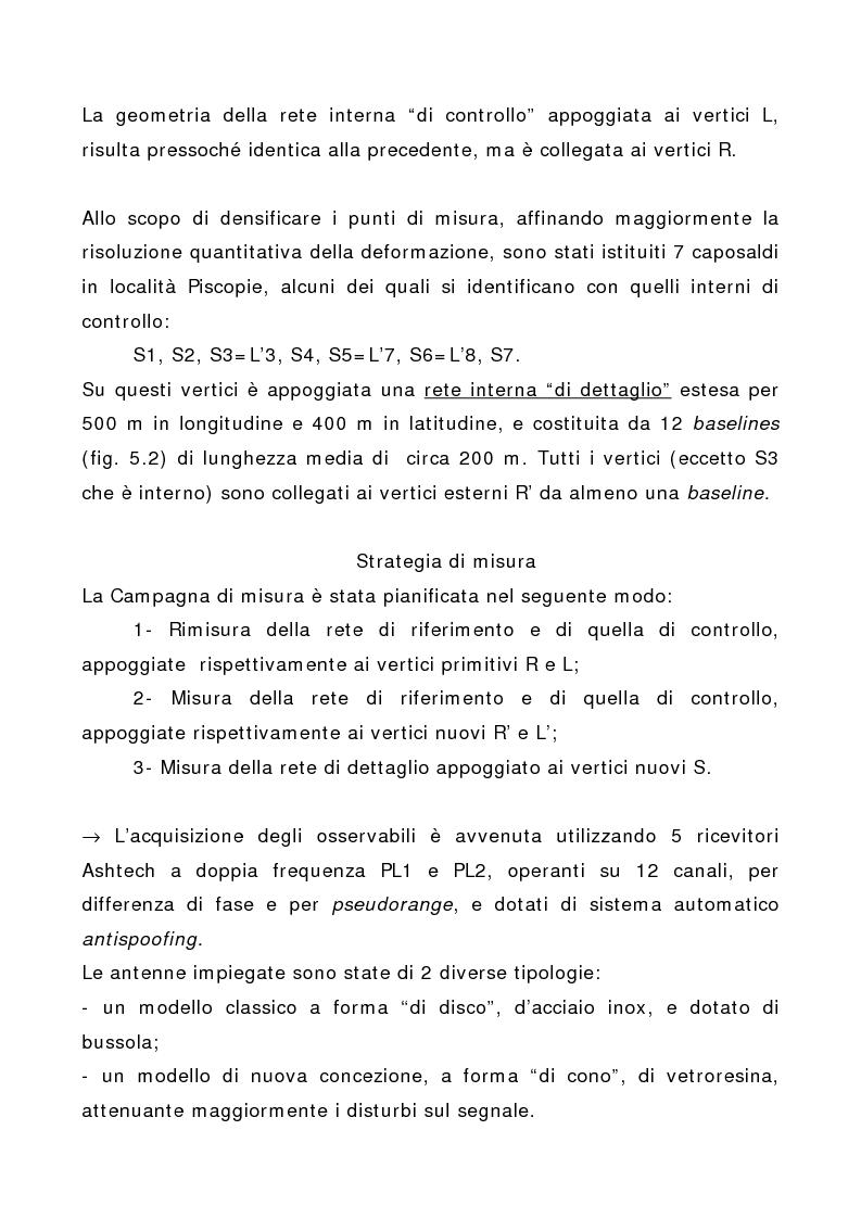 Anteprima della tesi: Applicazione di tecniche di geodesia spaziale e di geodimetria classica ed automatica allo studio delle deformazioni del suolo, Pagina 5