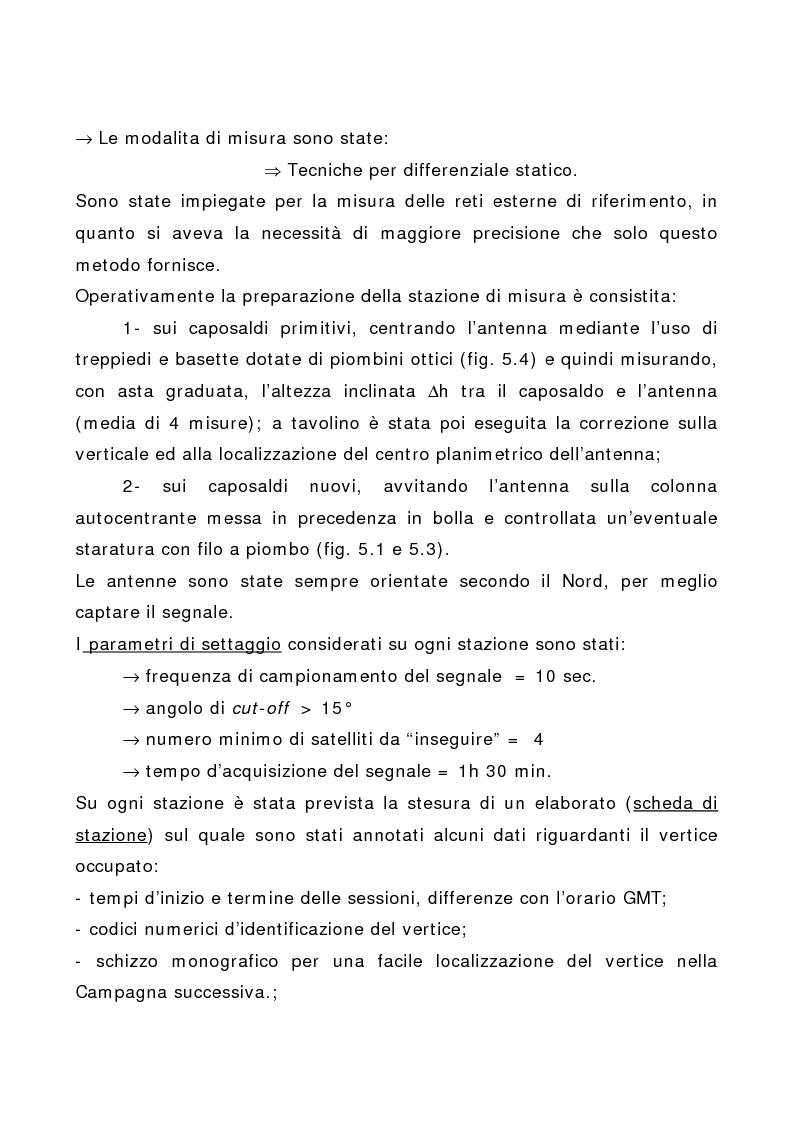 Anteprima della tesi: Applicazione di tecniche di geodesia spaziale e di geodimetria classica ed automatica allo studio delle deformazioni del suolo, Pagina 6