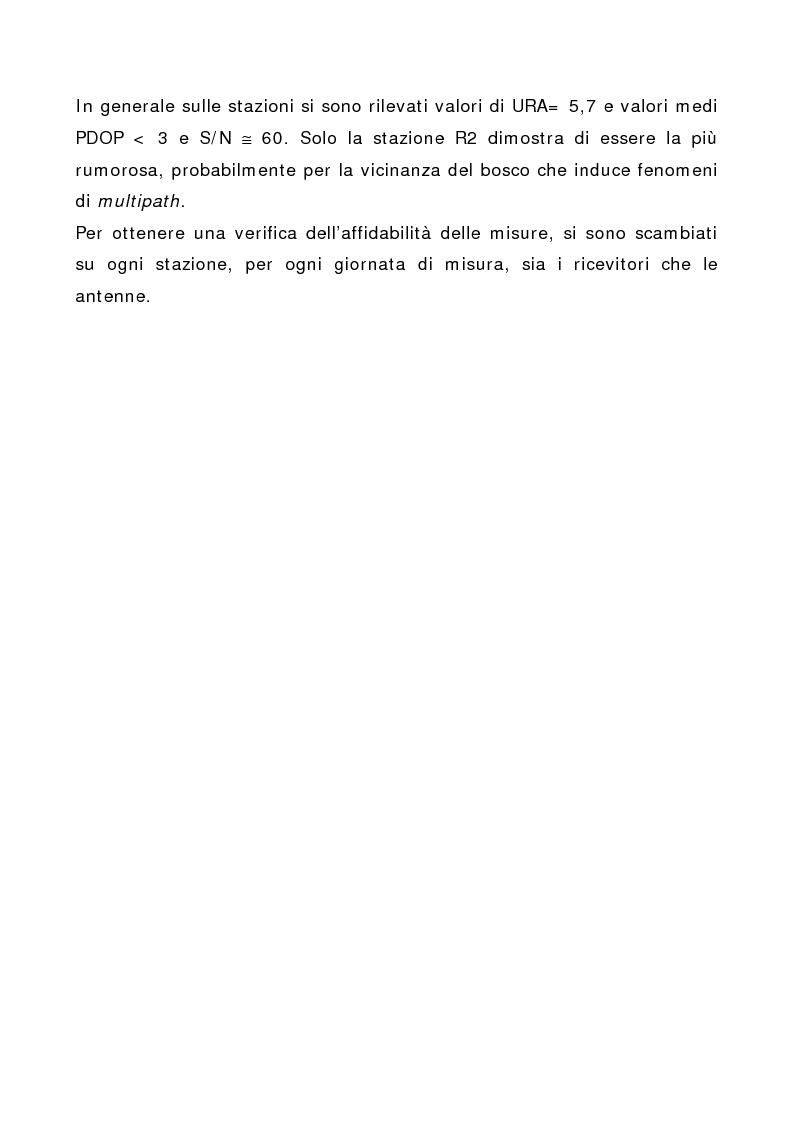 Anteprima della tesi: Applicazione di tecniche di geodesia spaziale e di geodimetria classica ed automatica allo studio delle deformazioni del suolo, Pagina 8