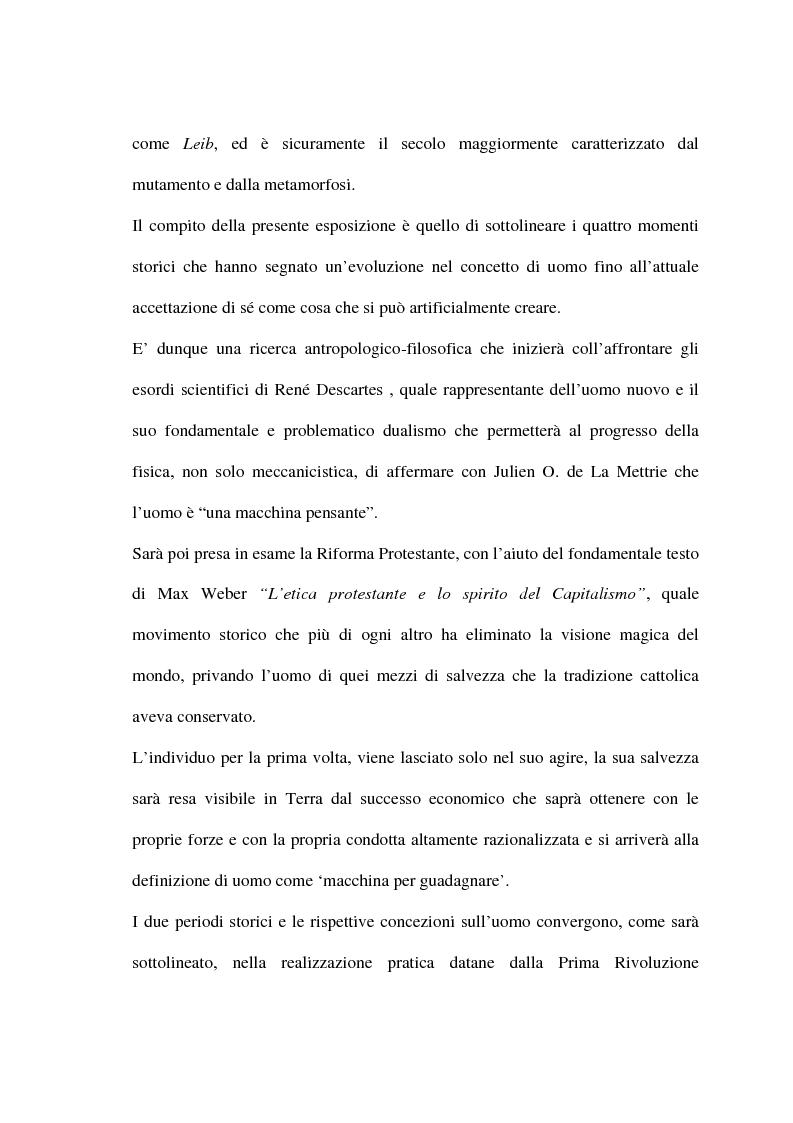 Anteprima della tesi: Alcuni aspetti della metamorfosi tecnologica dell'uomo, Pagina 2