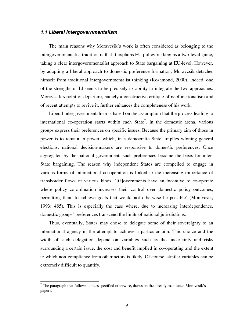 Anteprima della tesi: The Nature of the Interactions between Local Authorities and the EU. A Case Study from the North East of England, Pagina 4