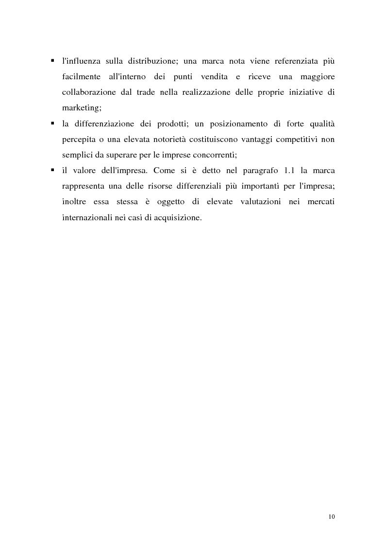 Anteprima della tesi: Le politiche di portafoglio prodotti dell'industria di marca. Il caso Buitoni, Pagina 10