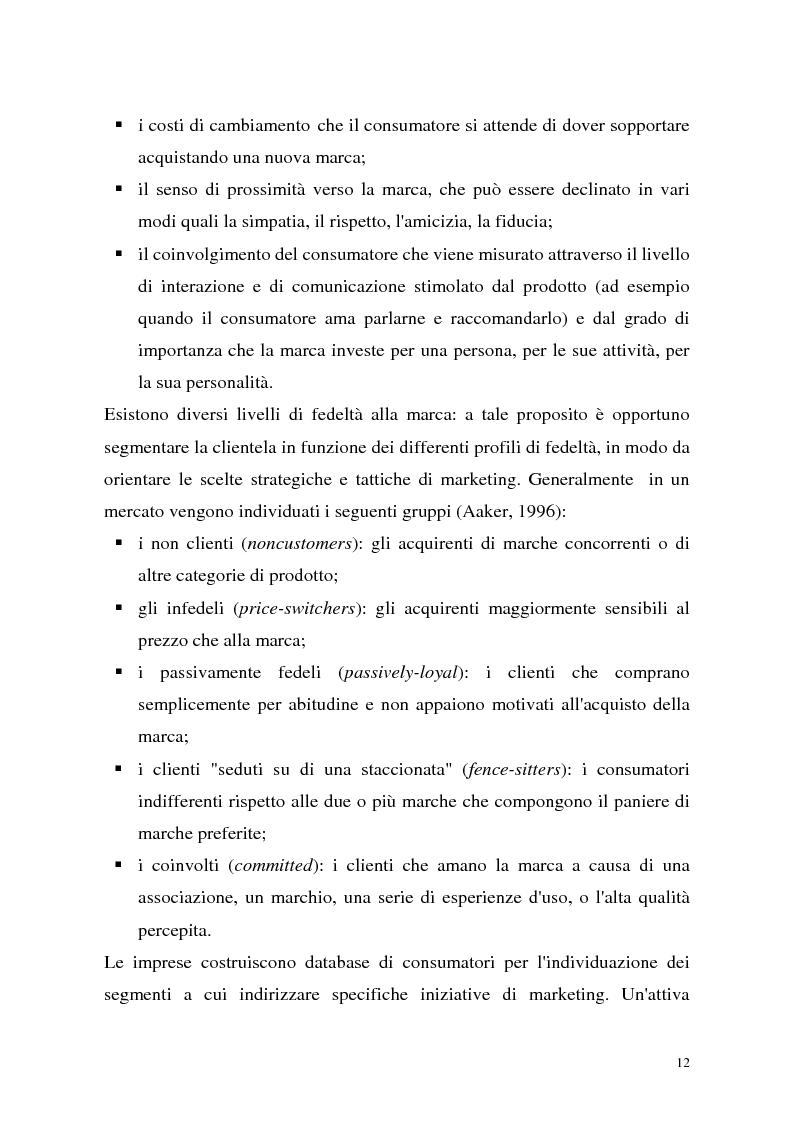 Anteprima della tesi: Le politiche di portafoglio prodotti dell'industria di marca. Il caso Buitoni, Pagina 12