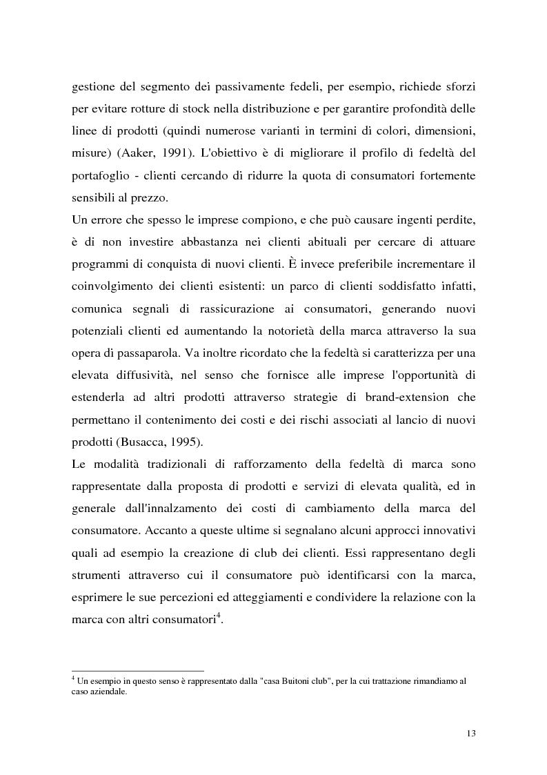 Anteprima della tesi: Le politiche di portafoglio prodotti dell'industria di marca. Il caso Buitoni, Pagina 13