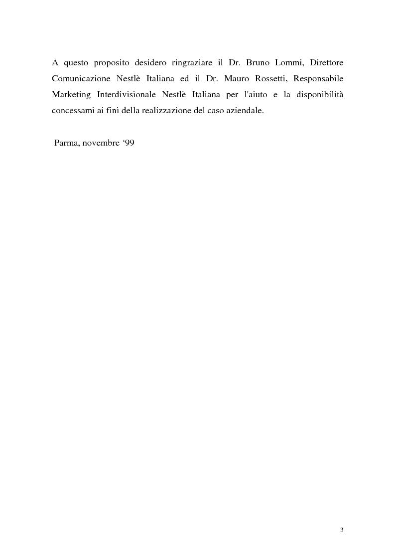 Anteprima della tesi: Le politiche di portafoglio prodotti dell'industria di marca. Il caso Buitoni, Pagina 3