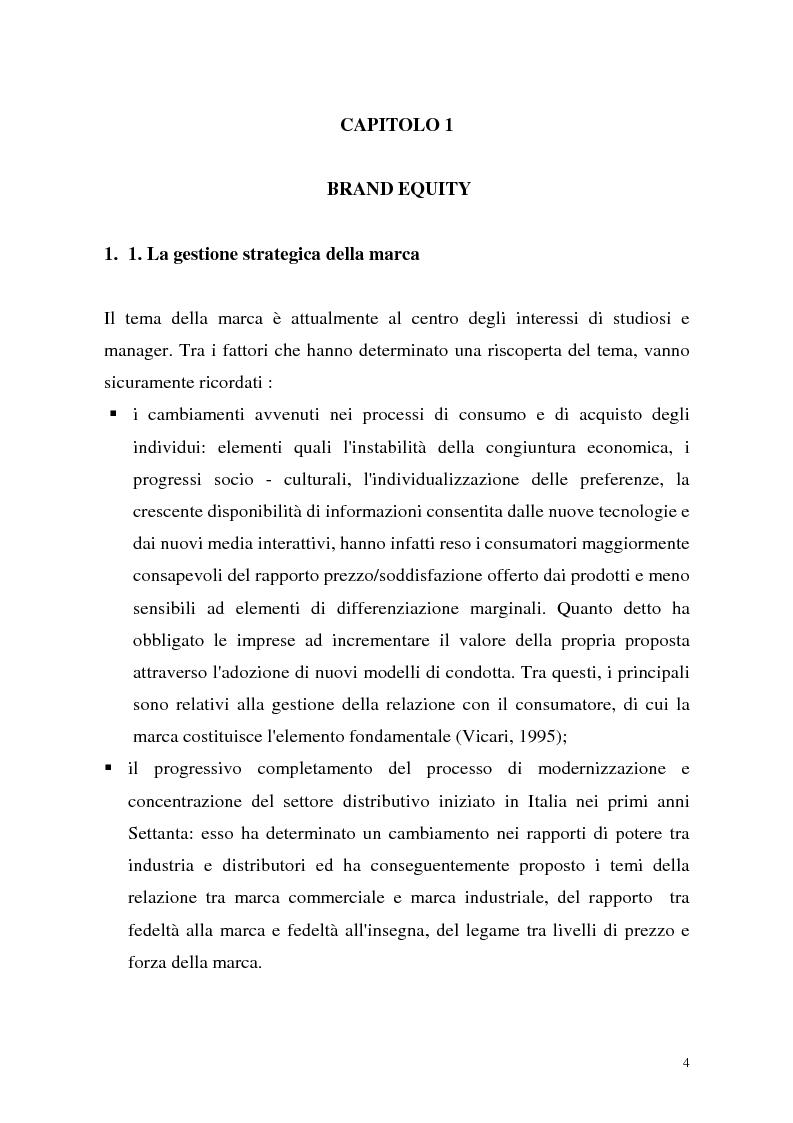 Anteprima della tesi: Le politiche di portafoglio prodotti dell'industria di marca. Il caso Buitoni, Pagina 4