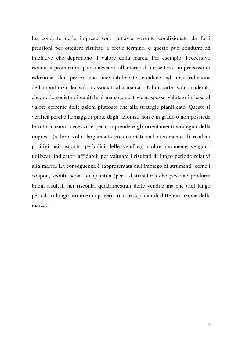 Anteprima della tesi: Le politiche di portafoglio prodotti dell'industria di marca. Il caso Buitoni, Pagina 6