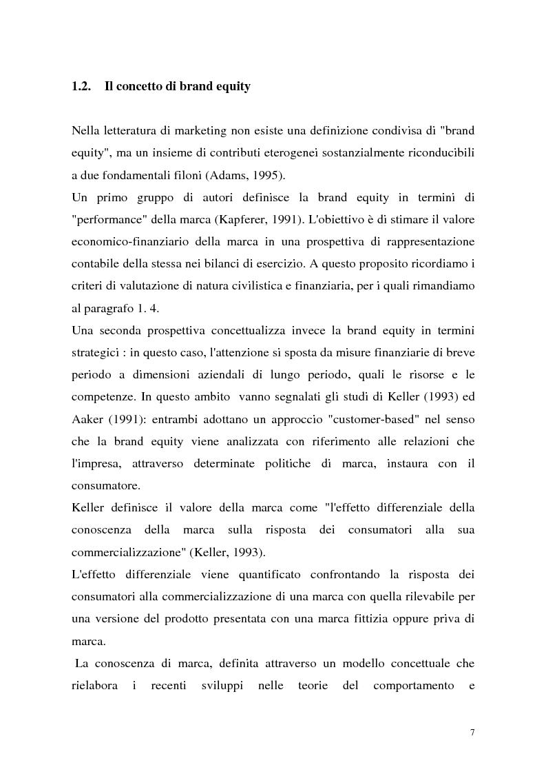 Anteprima della tesi: Le politiche di portafoglio prodotti dell'industria di marca. Il caso Buitoni, Pagina 7