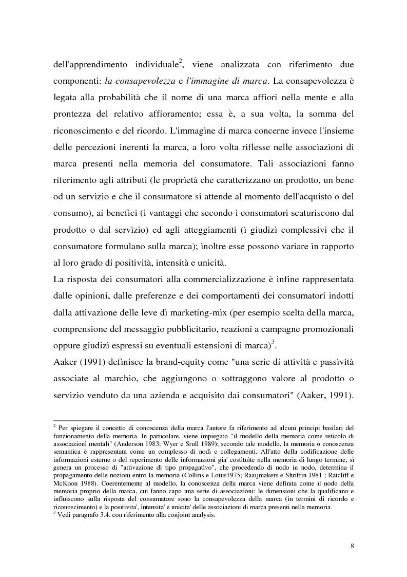 Anteprima della tesi: Le politiche di portafoglio prodotti dell'industria di marca. Il caso Buitoni, Pagina 8