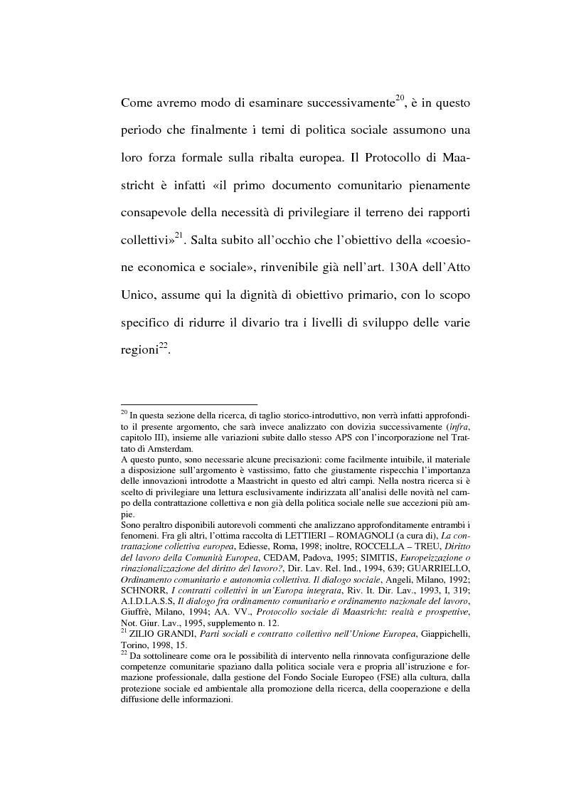 Anteprima della tesi: La contrattazione collettiva europea, Pagina 10