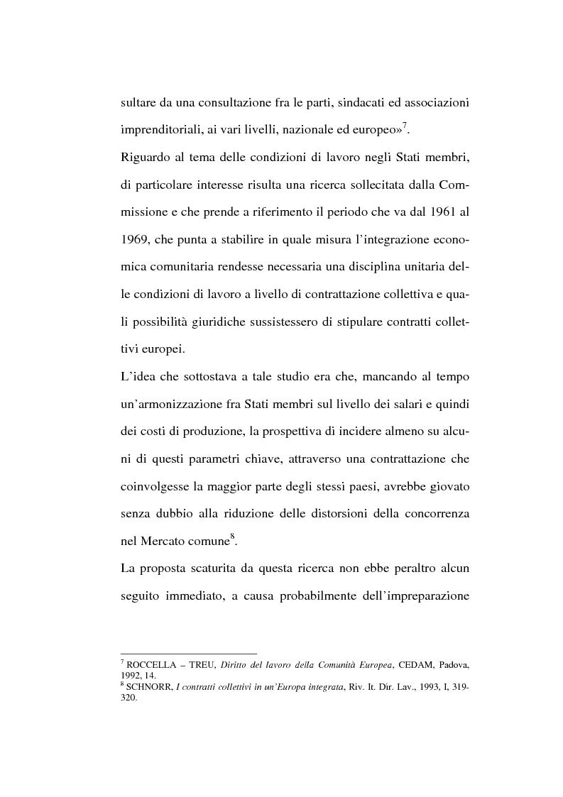Anteprima della tesi: La contrattazione collettiva europea, Pagina 4