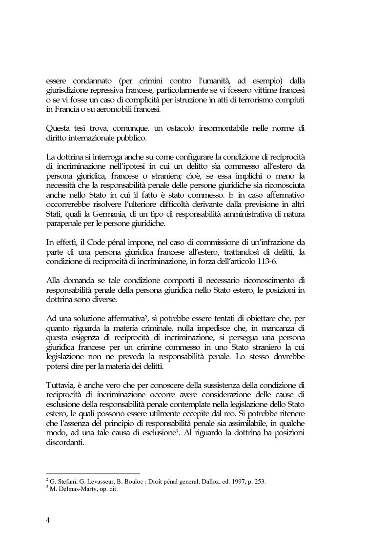 Anteprima della tesi: La responsabilità penale delle persone giuridiche nel Nuovo Codice penale francese, Pagina 10