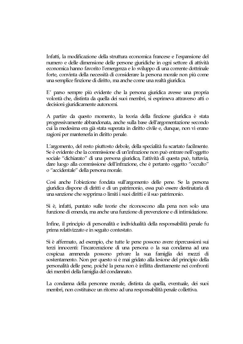 Anteprima della tesi: La responsabilità penale delle persone giuridiche nel Nuovo Codice penale francese, Pagina 3