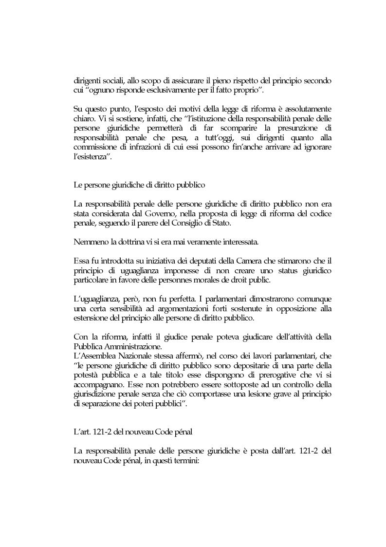 Anteprima della tesi: La responsabilità penale delle persone giuridiche nel Nuovo Codice penale francese, Pagina 5