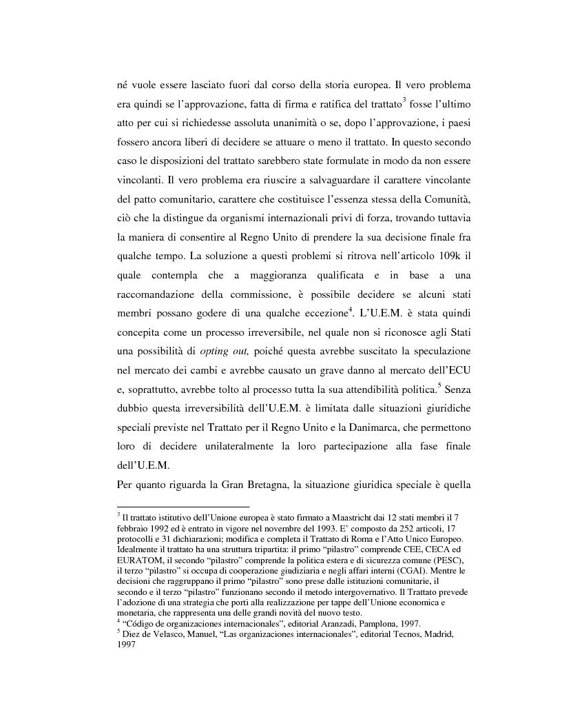Anteprima della tesi: Benefici e costi dell'Unione Monetaria Europea: l'esempio di Gran Bretagna, Danimarca e Svezia, Pagina 8