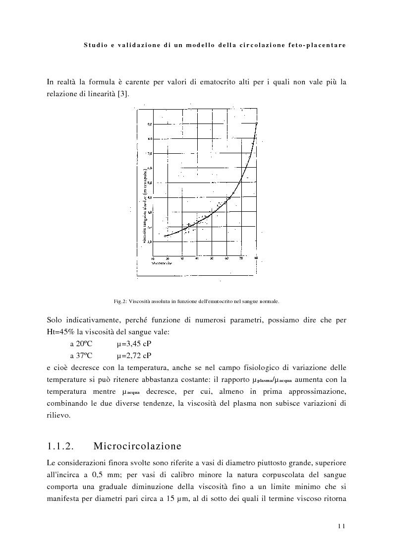 Anteprima della tesi: Studio e validazione di un modello di circolazione fetoplacentare, Pagina 7