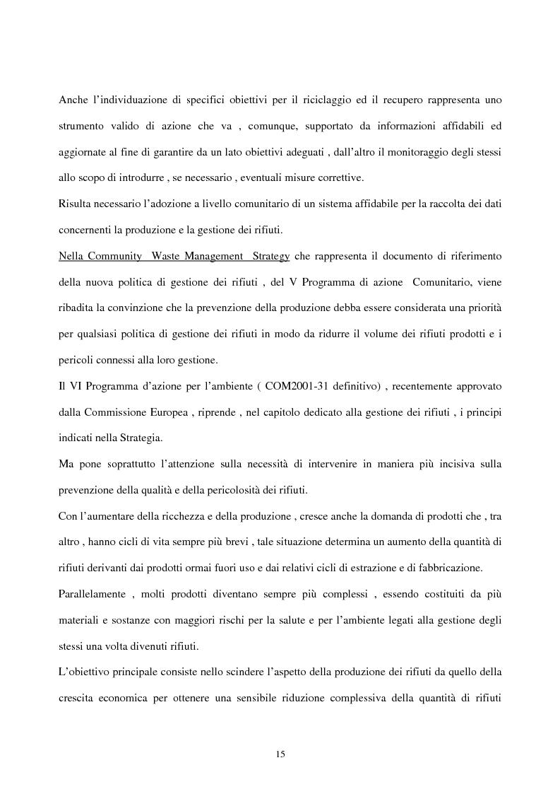 Anteprima della tesi: L'industria del riciclo dei rifiuti solidi. Il caso del legno, Pagina 10