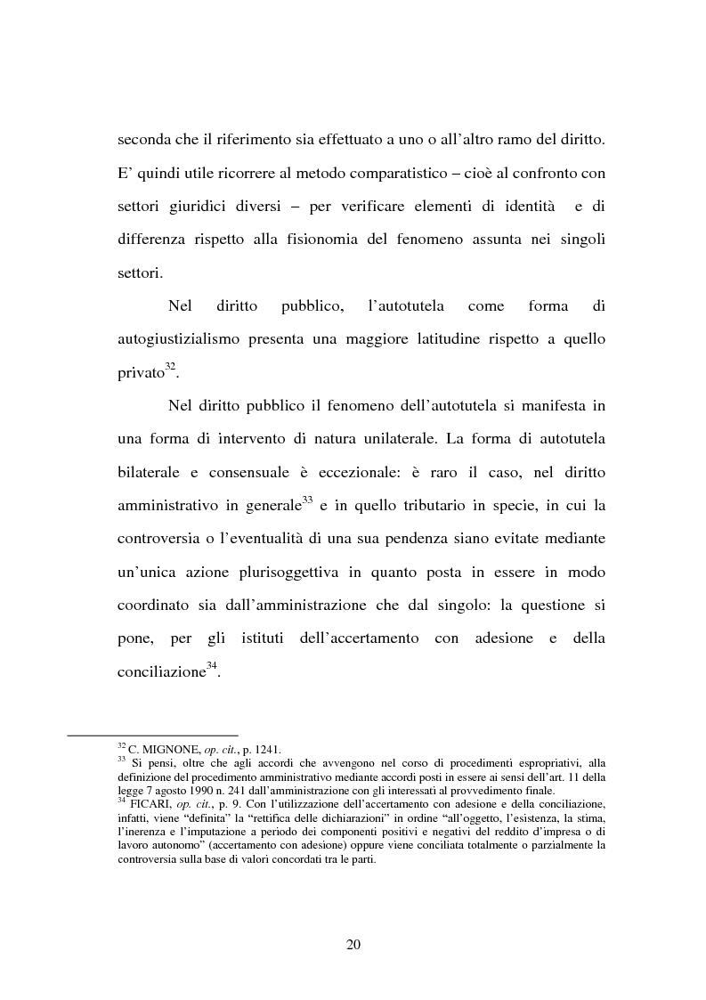 Anteprima della tesi: L'autotutela nell'ordinamento tributario, Pagina 15