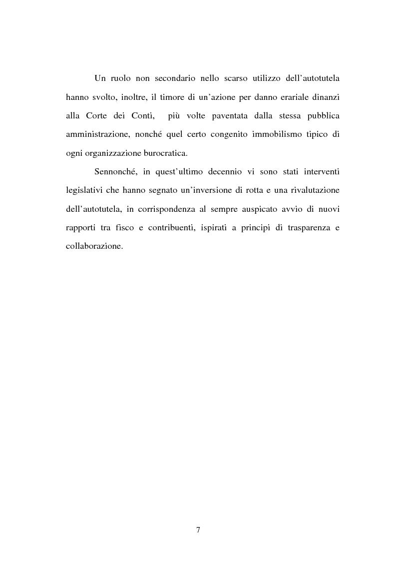 Anteprima della tesi: L'autotutela nell'ordinamento tributario, Pagina 2