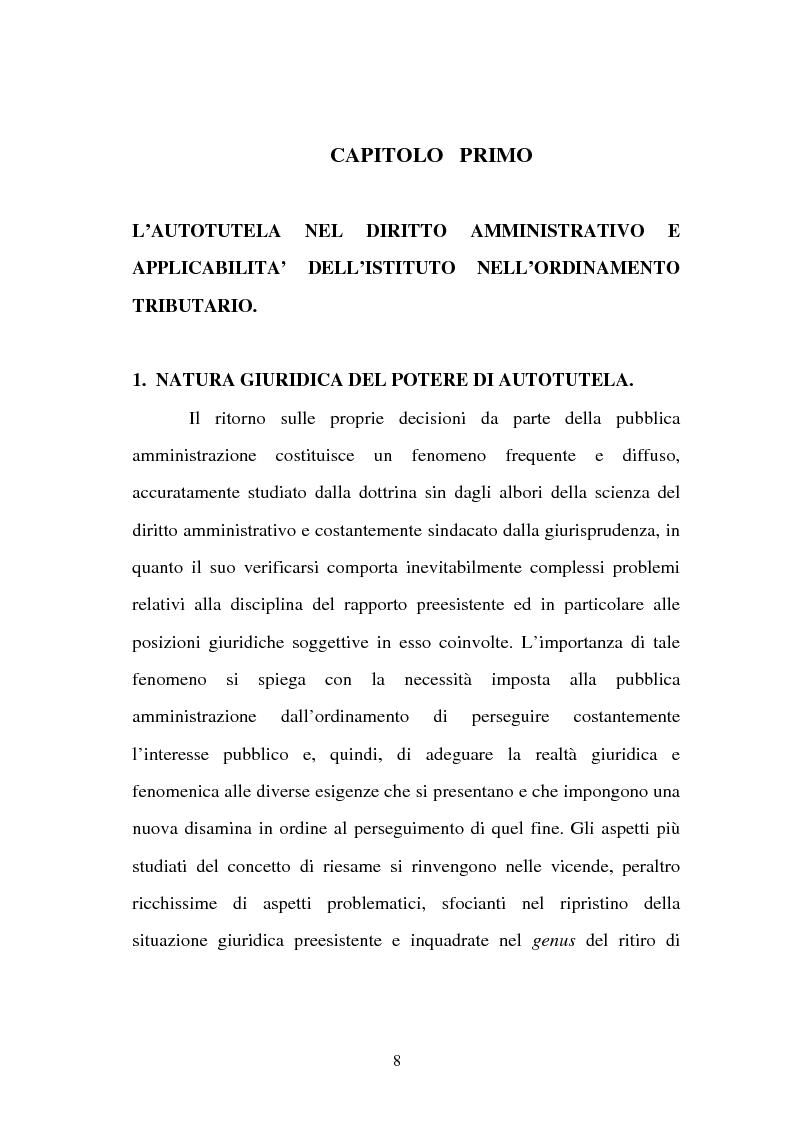 Anteprima della tesi: L'autotutela nell'ordinamento tributario, Pagina 3