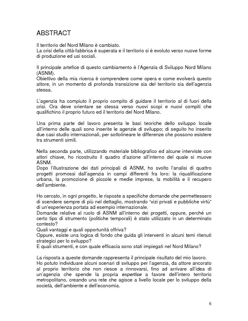 Anteprima della tesi: Dopo l'innovazione. interpretazioni e scenari di cambiamento per l'Asnm, Pagina 1