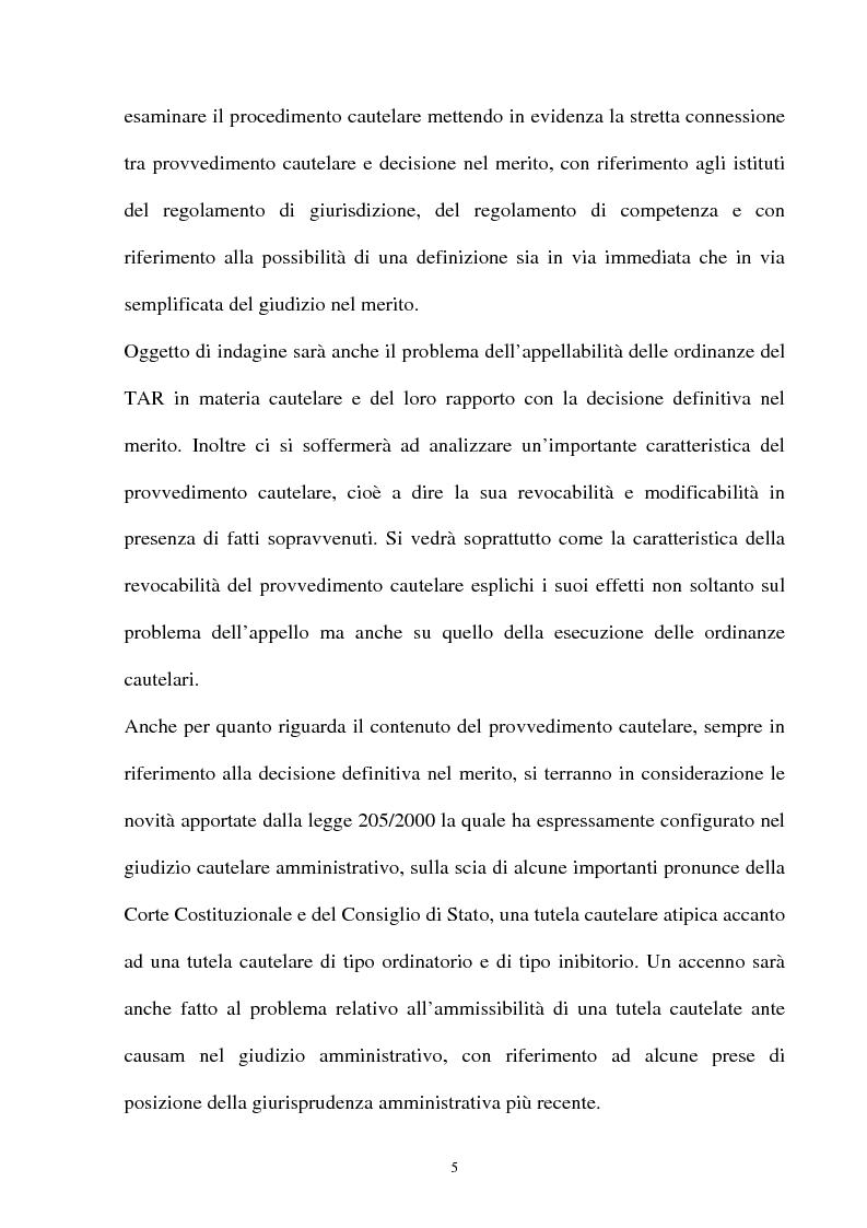 Anteprima della tesi: Provvedimento cautelare e decisione nel merito, Pagina 2