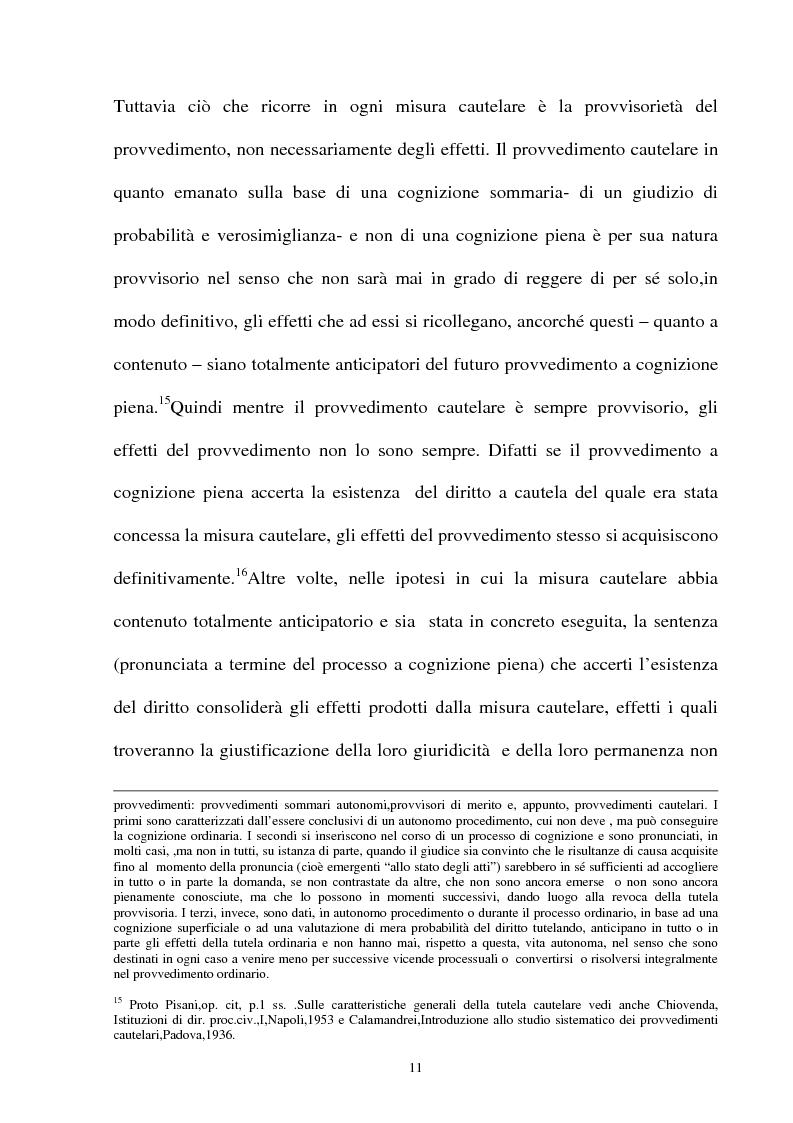 Anteprima della tesi: Provvedimento cautelare e decisione nel merito, Pagina 8