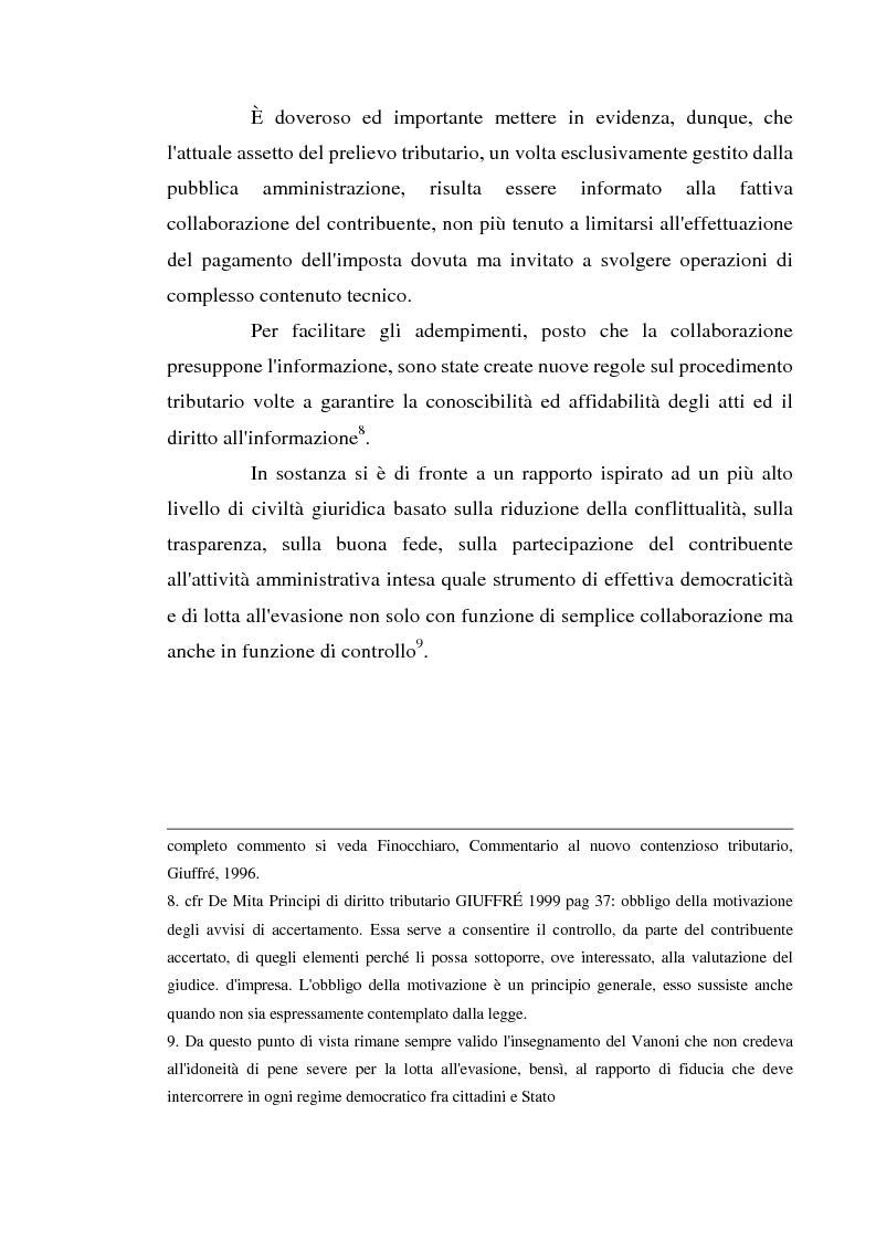 Anteprima della tesi: Accertamento con adesione e conciliazione giudiziale nel sistema tributario, Pagina 4