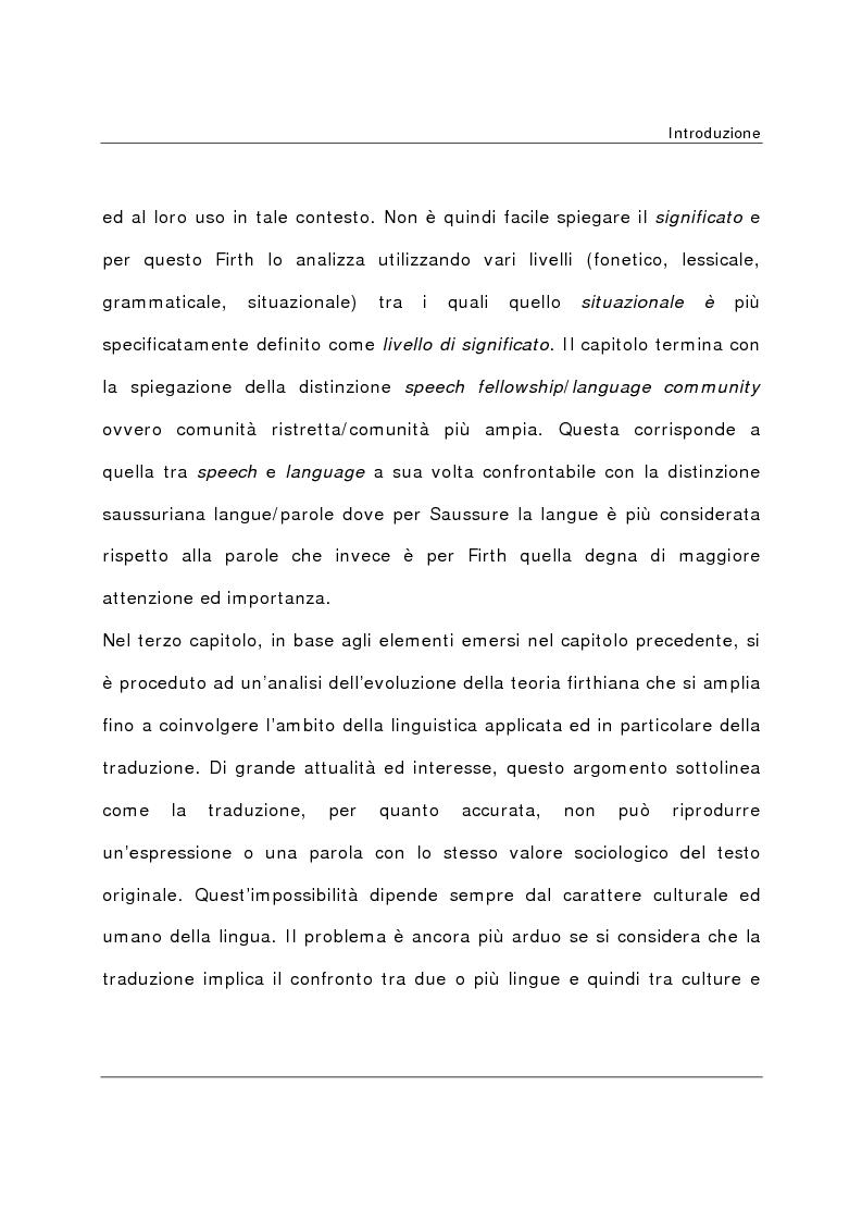 Anteprima della tesi: La teoria del significato in J. R. Firth, Pagina 6
