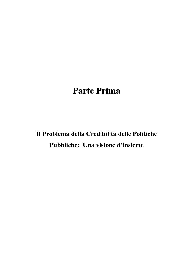 Anteprima della tesi: Il problema della credibilità delle politiche pubbliche, Pagina 11
